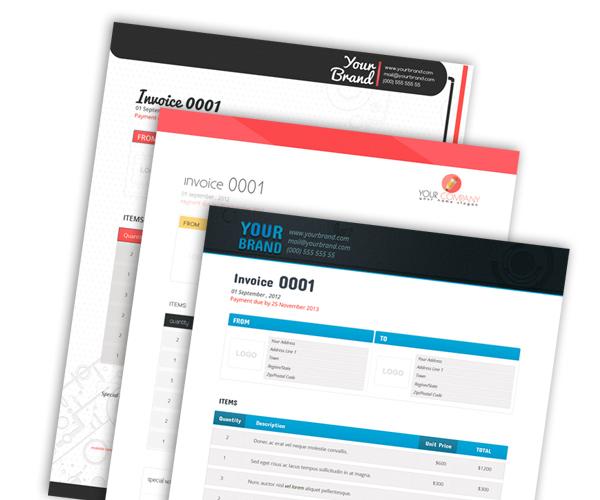 TemplateShock Printing Templates – Indesign Invoice Template
