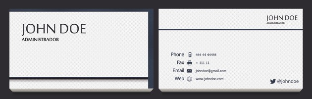 Business Card Templates - Template of business card