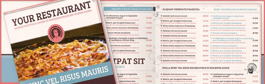 food menu templates