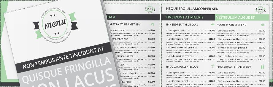 Menu Templates - Basic menu template