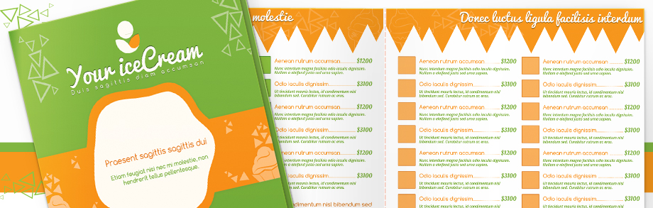 Menu Templates - Take out menu template free