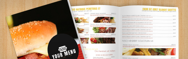 Fast Food Menu Template  Free Food Menu Template