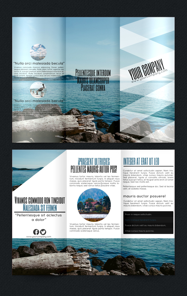beach brochure template