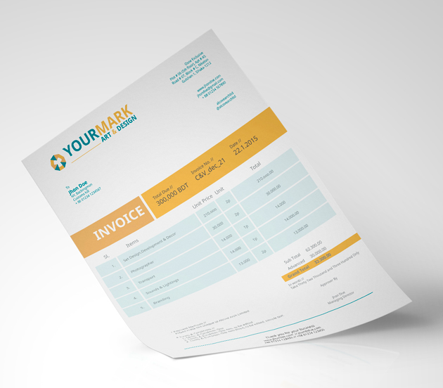 3d Invoice Template