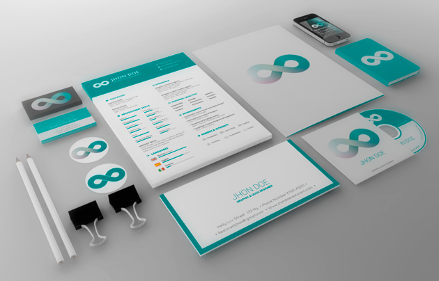 teal business branding template