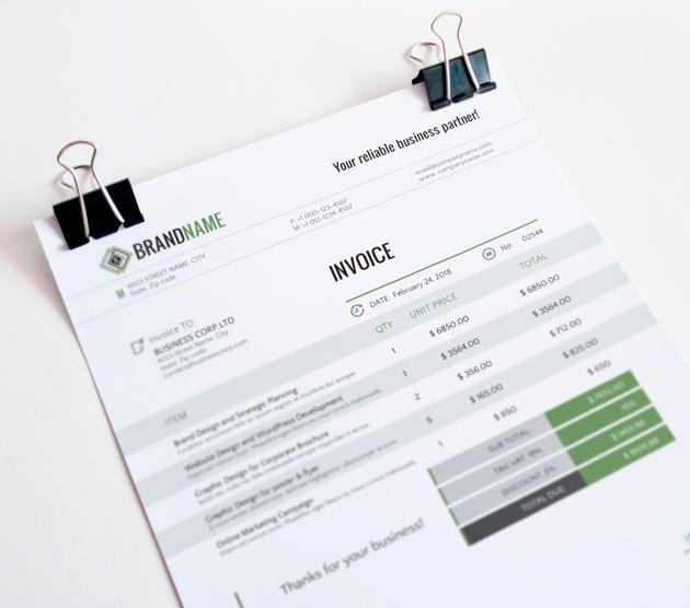 corporate invoice template