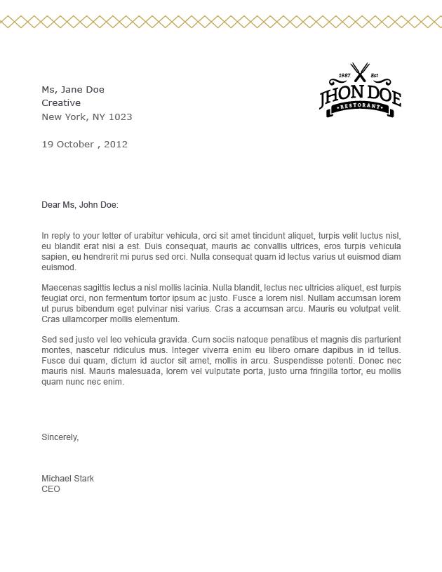 Elegant Letter Template