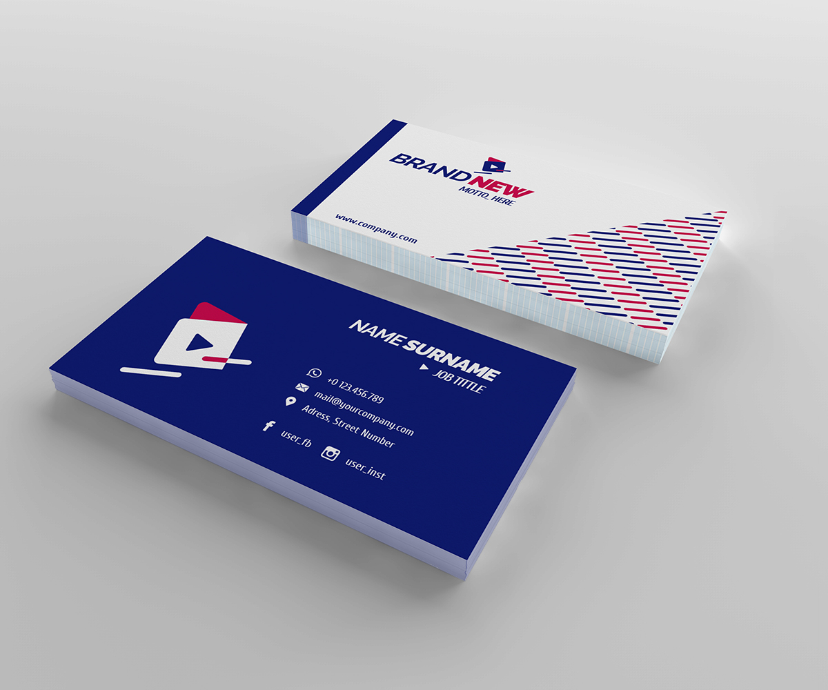 Courier Business Card design